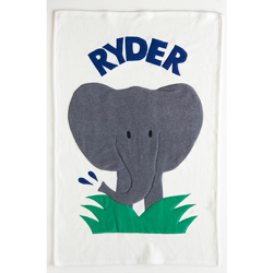 Personalized Elephant Baby Blanket