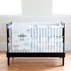 Planes Organic Crib Bedding Set