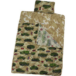Army Trucks Sleeping Bag