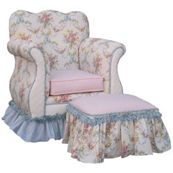 Blossoms and Bows Kids Empire Chair