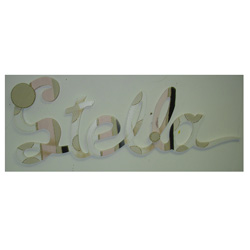 Stella's Tan Dots Wall Letters