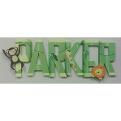 Jungle Adventures Wall Letters
