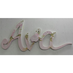 Rose Bush Wall Letters