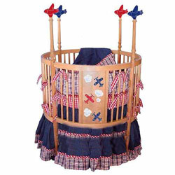 Airplane Round Baby Crib
