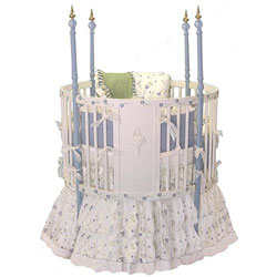 Blue Bouquet Round Crib