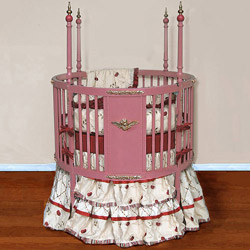 Blush Dreams Round Crib