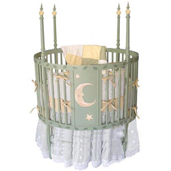 Moon and Stars Round Crib