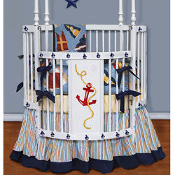 Nautical Round Crib Bedding
