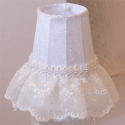 Embroidered Lace Ruffled Chandelier Shade