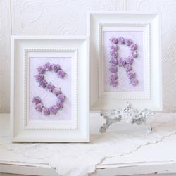 Roses Personalized Initial Frame