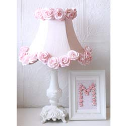 Dupioni Silk & Roses Table Lamp