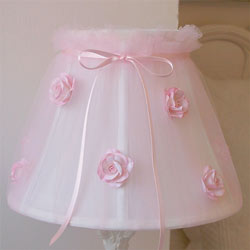 Tulle Roses Lamp Shade