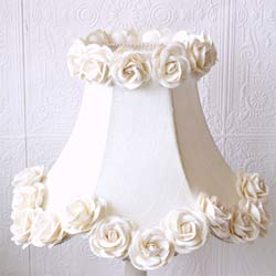 Silk and Roses Lamp Shade