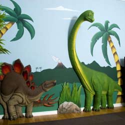 3D Dinosaur Wall Art Decor