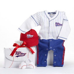 Baseball 3 Piece Layette Set