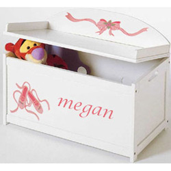 Custom Handpainted Ballet Toy Box