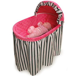 Black and Pink Embrace Bassinet