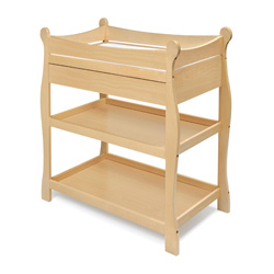 Sleigh Style Changer With Drawer
