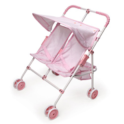 Double Folding Doll Umbrella Stroller