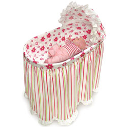 Flowers and Stripes Embrace Bassinet