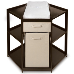 Espresso Corner Baby Changing Table