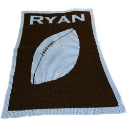 Custom Football Stroller Blanket