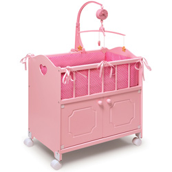 Pink Storage Doll Crib