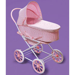 Pink Rosebud 3-in-1 Doll Pram