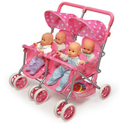 Quad Deluxe Doll Stroller