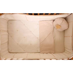 Cream Bear Porta Crib Bedding