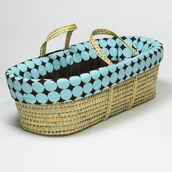 <font color=red><b> New! </font></b> Disco Dots Moses Basket