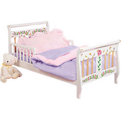 Pink/Lavender Reversible Toddler Bedding