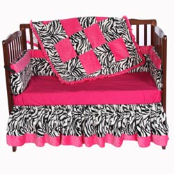 Minky Zebra Crib Bedding