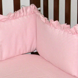 Gingham Crib Bumper