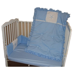 Flower Applique Porta Crib Bedding