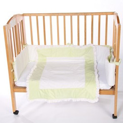 Snuggle Diamond Porta Crib Bedding