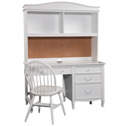 Emma Pedestal Desk with Hutch