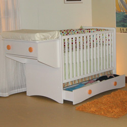 Oslo Crib Changing Table Combo by Berg Furniture