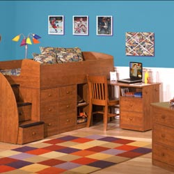 Sierra Space Saver Captain Bed Collection