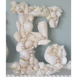 Seashell Wall Letters