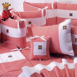Embroidered Appliques Crib Bedding