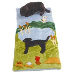 Black Lab Sleeping Bag