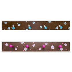 Swirls and Dots Peg Rack