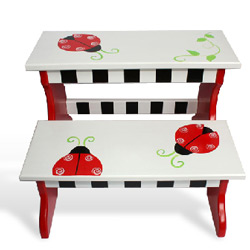 Ladybug Two Step Stool