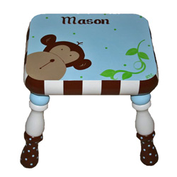 Blue Monkey'n Around Stool