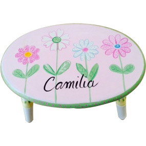 Pretty Daisy Personalized Stool