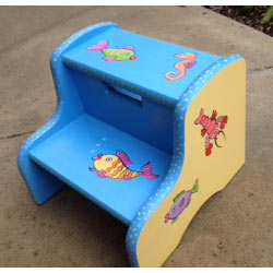 Personalized Gone Fishing Step Stool