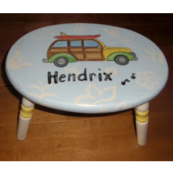 Personalized Road Trip Step Stool
