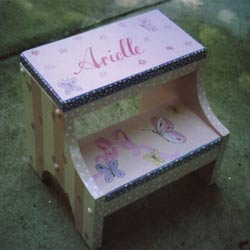 Personalized Butterfly Step Stool