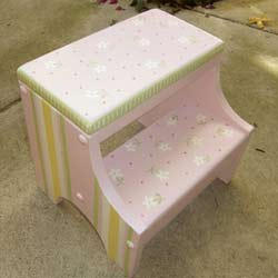 Pink Daisy Step Stool